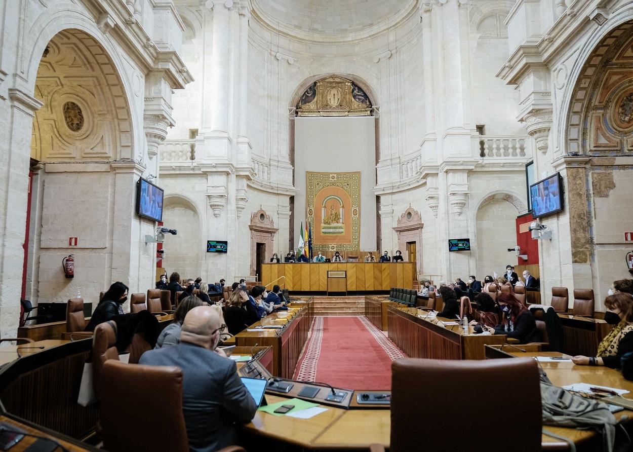 Vista del Pleno del Parlamento de Andalucía.