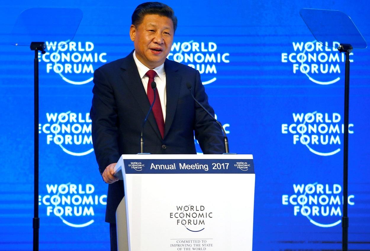 El presidente de China, Xi Jinping, en el Foro de Davos de 2017. REUTERS