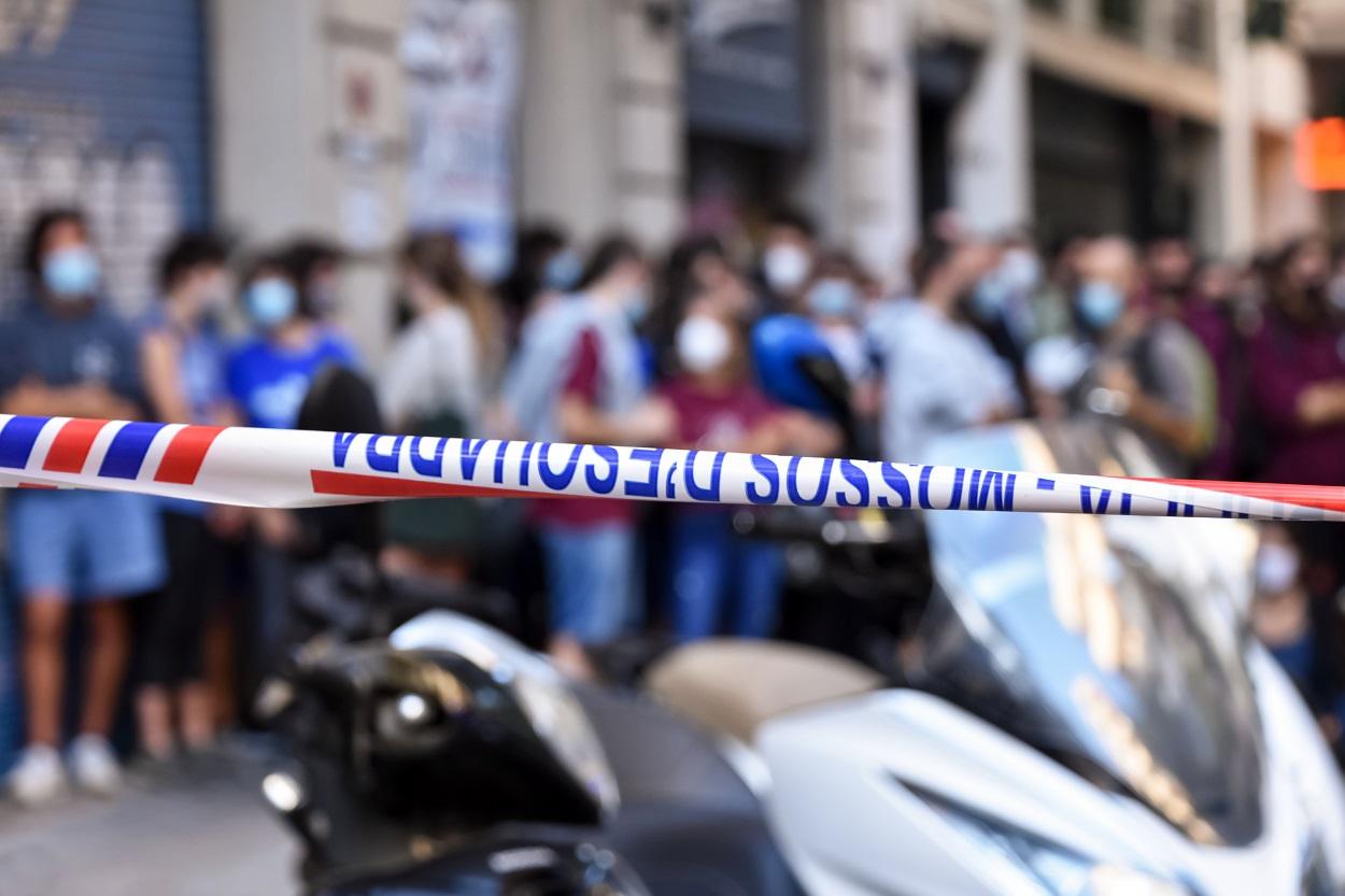 Protesta contra un desahucio en Barcelona en septiembre de 2020. Shutterstock / fotokalua