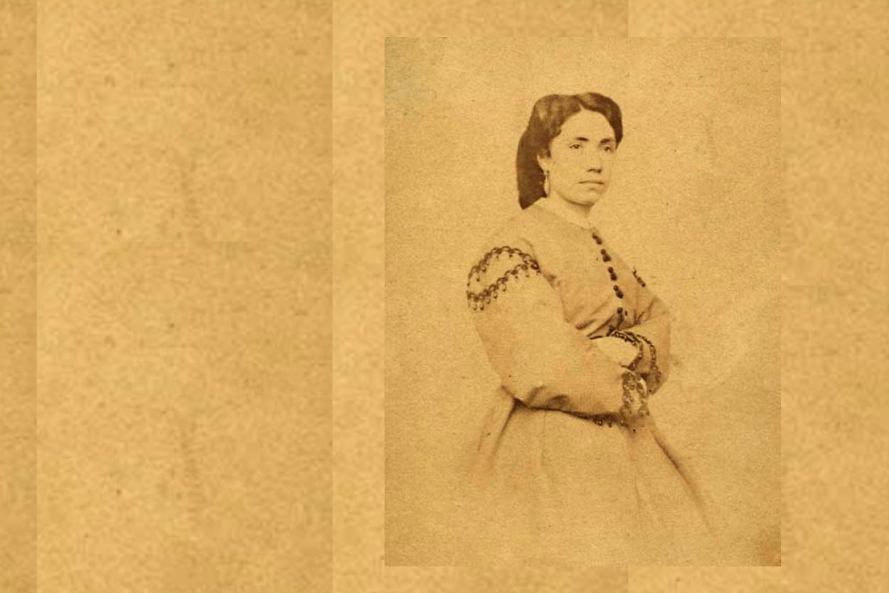 Rosalía por Encausse. En Santiago de Compostela en la década de los 60 del siglo XIX. Colección da RAG. Rosalia.gal