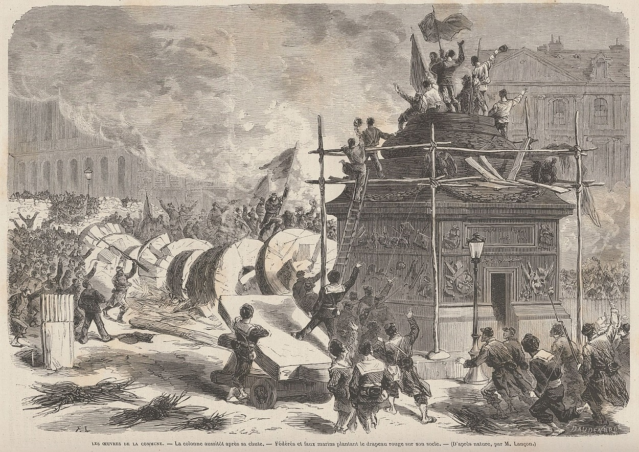 París durante la Comuna, Le Monde Illustré, mayo de 1871. WIKIPEDIA