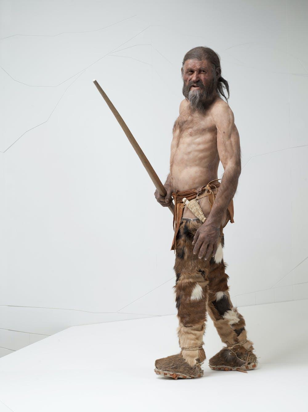 Reconstrucción del aspecto de Ötzi realizada por Alfons & Adrie Kennis. © South Tyrol Museum of Archaeology/Ochsenreiter