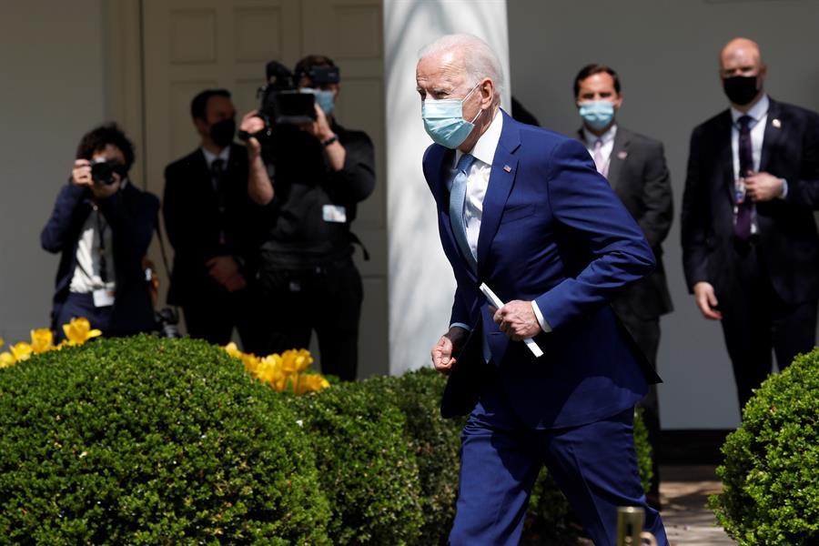 El presidente de Estados Unidos, Joe Biden, durante un acto reciente en la Casa Blanca.- EFE