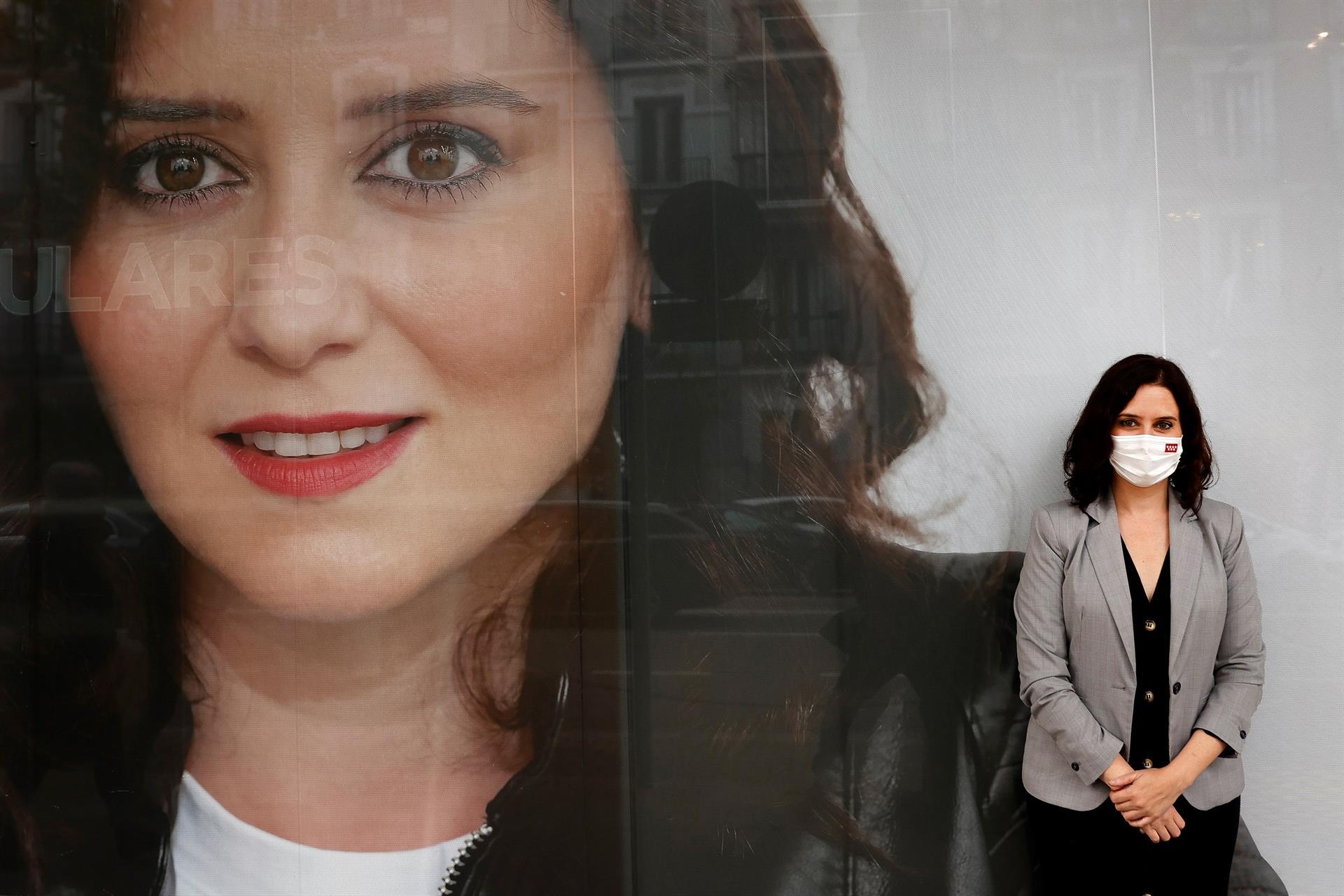 La presidenta madrileña y candidata del PP a la reelección, Isabel Díaz Ayuso.- EFE