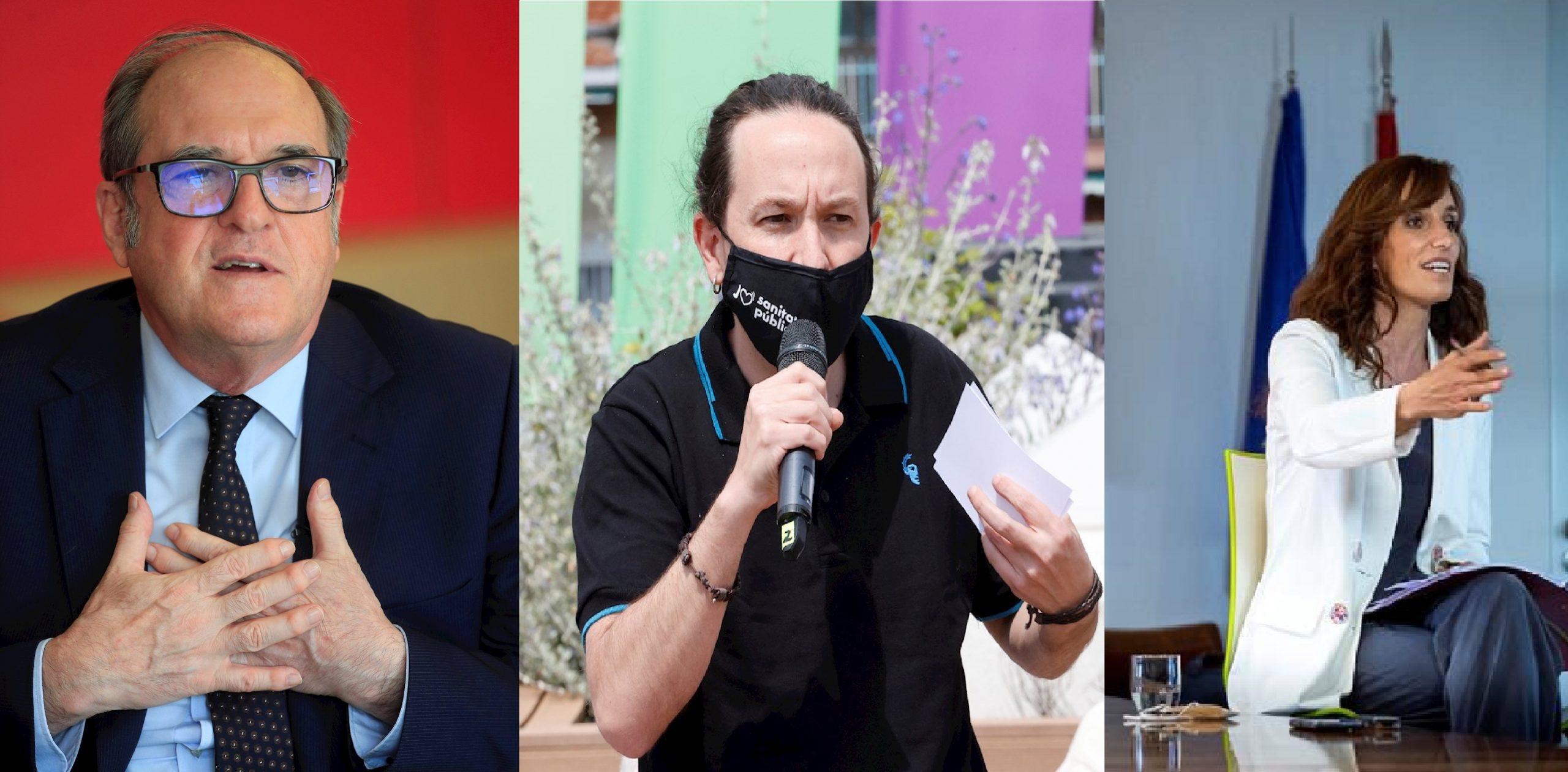 Imágenes de los principales líderes progresistas en la Comunidad de Madrid. - EFE