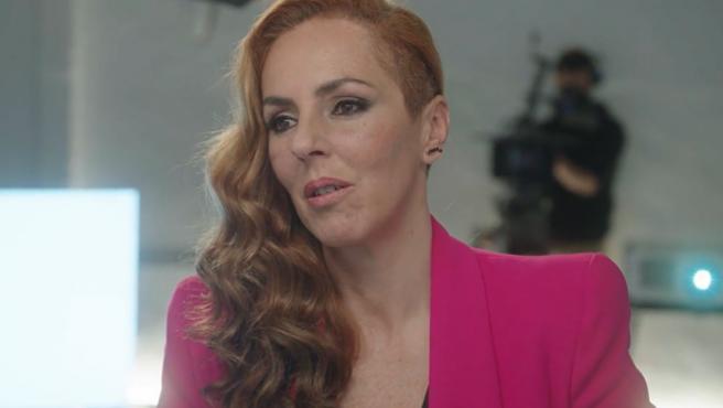 Rocío Carrasco durante su entrevista en Telecinco