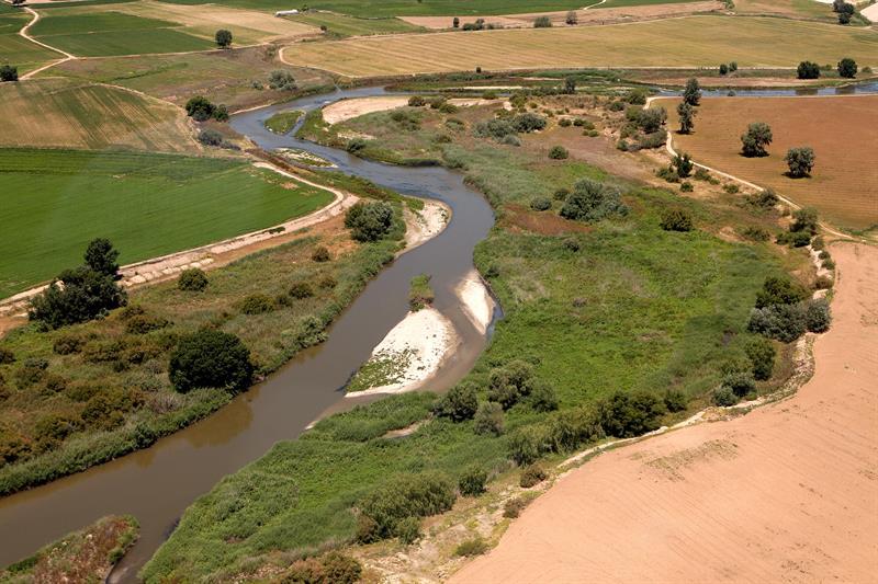 Vista aérea del Valle del Tajuña.- EFE