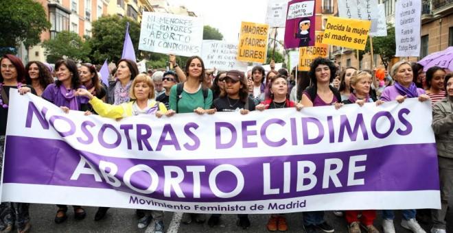 Manifestación de Madrid con motivo del Día Internacional por la Despenalización del Aborto./ EFE.