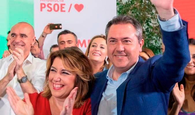 Susana Díaz y Juan Espadas en una imagen de archivo.- EFE