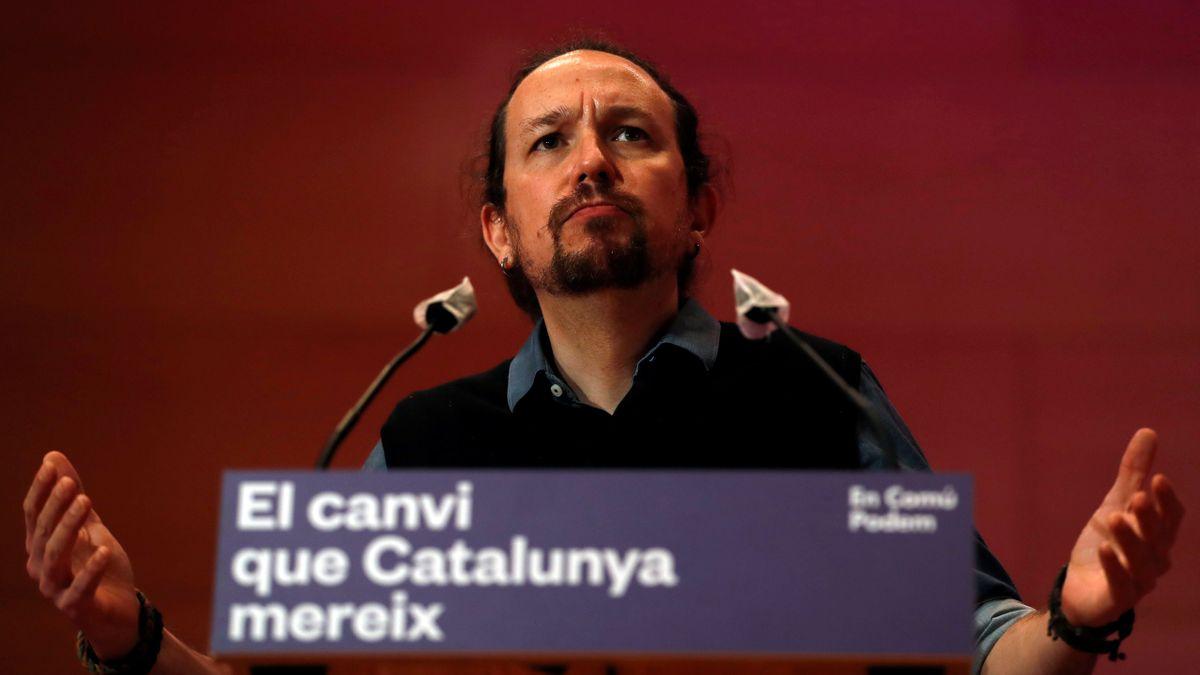 El vicepresidente segundo del Gobierno y líder de Podemos, Pablo Iglesias, durante un acto de la campaña electoral catalana, el pasado sábado. EFE/Alberto Estévez