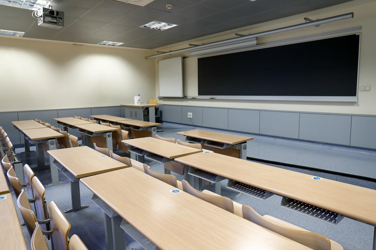 Aula de una de las Facultades de la Universidad Autónoma de Madrid. E.P.