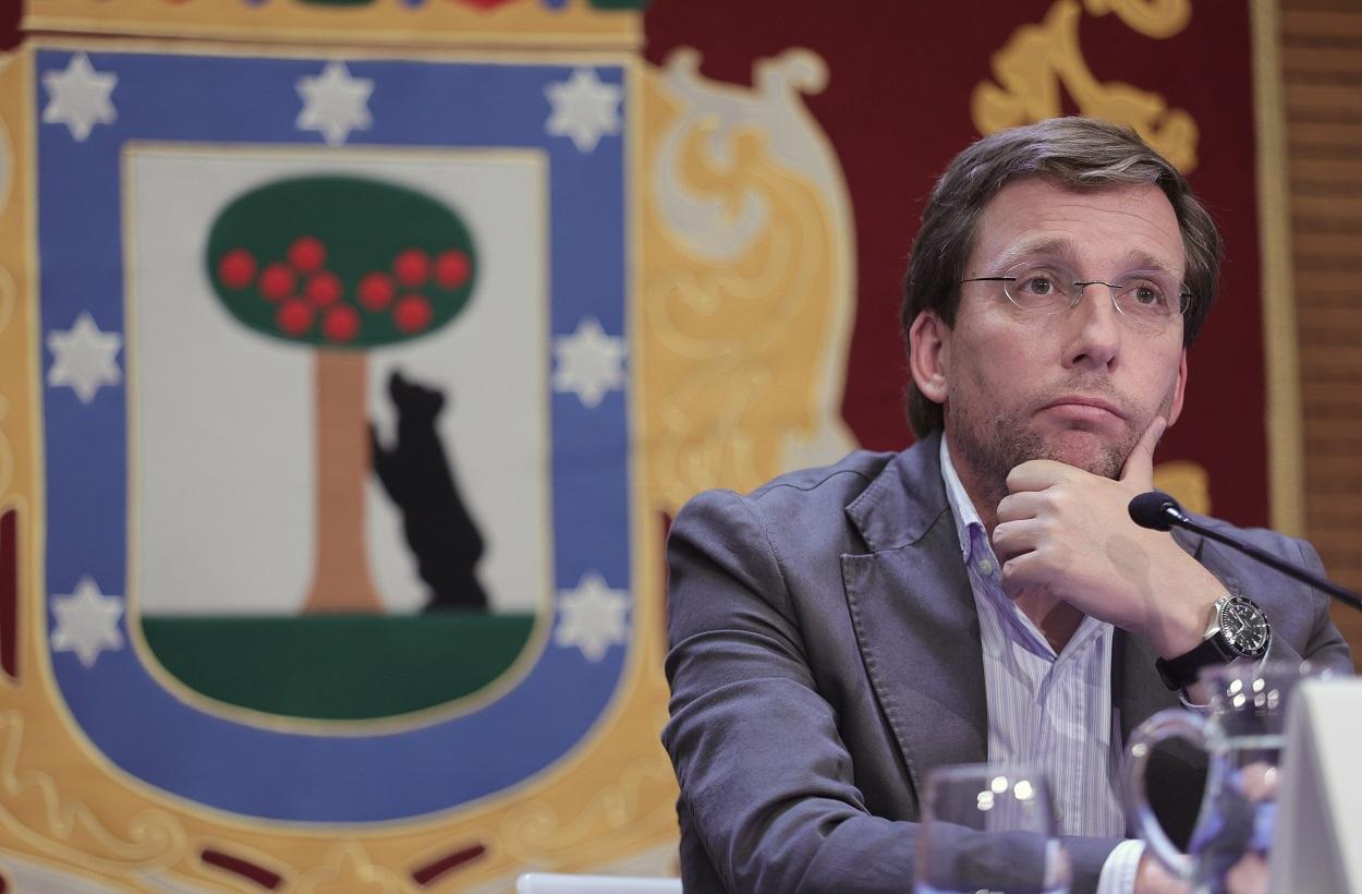 El alcalde de Madrid, José Luis Martínez-Almeida, en una comparecencia tras la reunión de la Junta de Gobierno del Ayuntamiento. E.P./Eduardo Parra