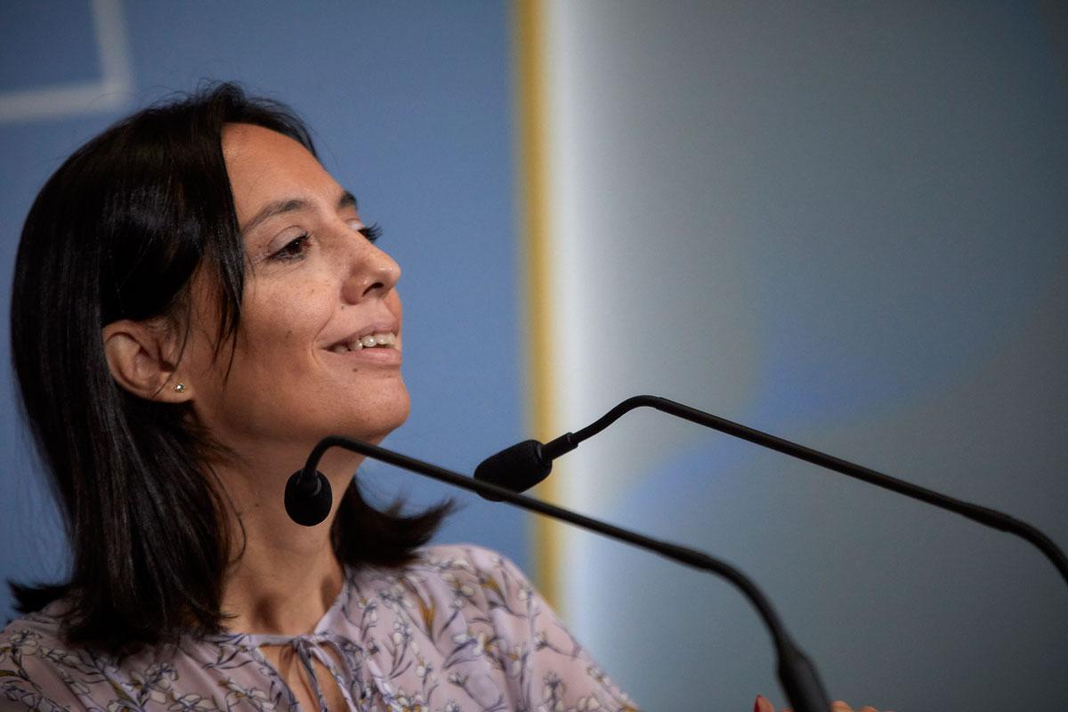 La delegada del Gobierno en la Comunidad de Madrid, Mercedes González, ofrece un rueda de prensa en la sede de la Delegación, a 21 de septiembre de 2021, en Madrid.- EUROPA PRESS