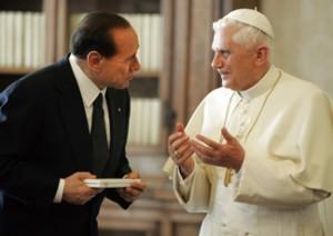 Benedetto-XVI-Silvio-Berlusconi