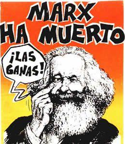 Marx ha muerto, caricatura