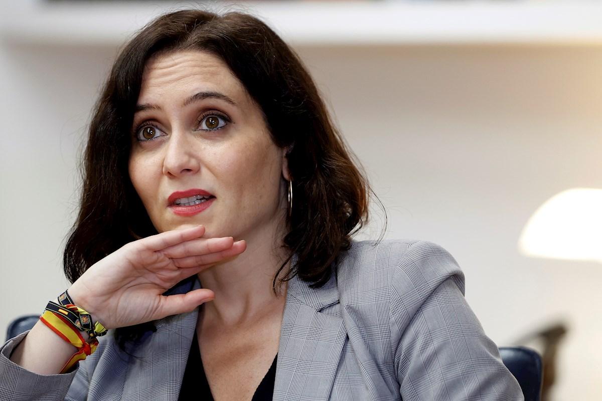 La presidenta madrileña y candidata del PP a la reelección, Isabel Díaz Ayuso, en una entrevista con la Agencia Efe. EFE/ Mariscal