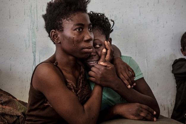 Mujeres nigerianas refugiadas en Libia