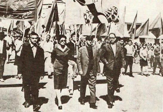 Ratebzad en la manifestación del 1 de mayo de Kabul, 1966