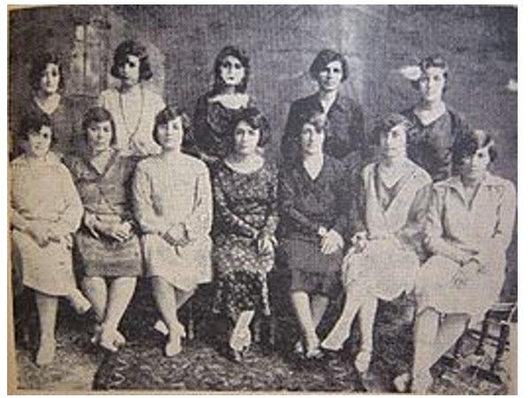 """La directiva de la revista feminista """"Nuestro despertar"""", 1924"""
