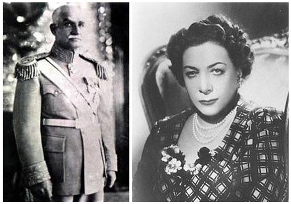 Reza Phalavi y la reina Tay Olmoluk