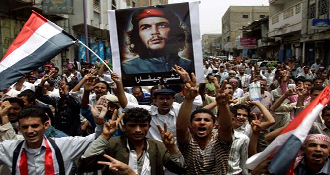 Una manifestación de la Primavera de Yemen, 2011. Yemen Sur fue gobernado por los marxistas entre 1967 y 1990.