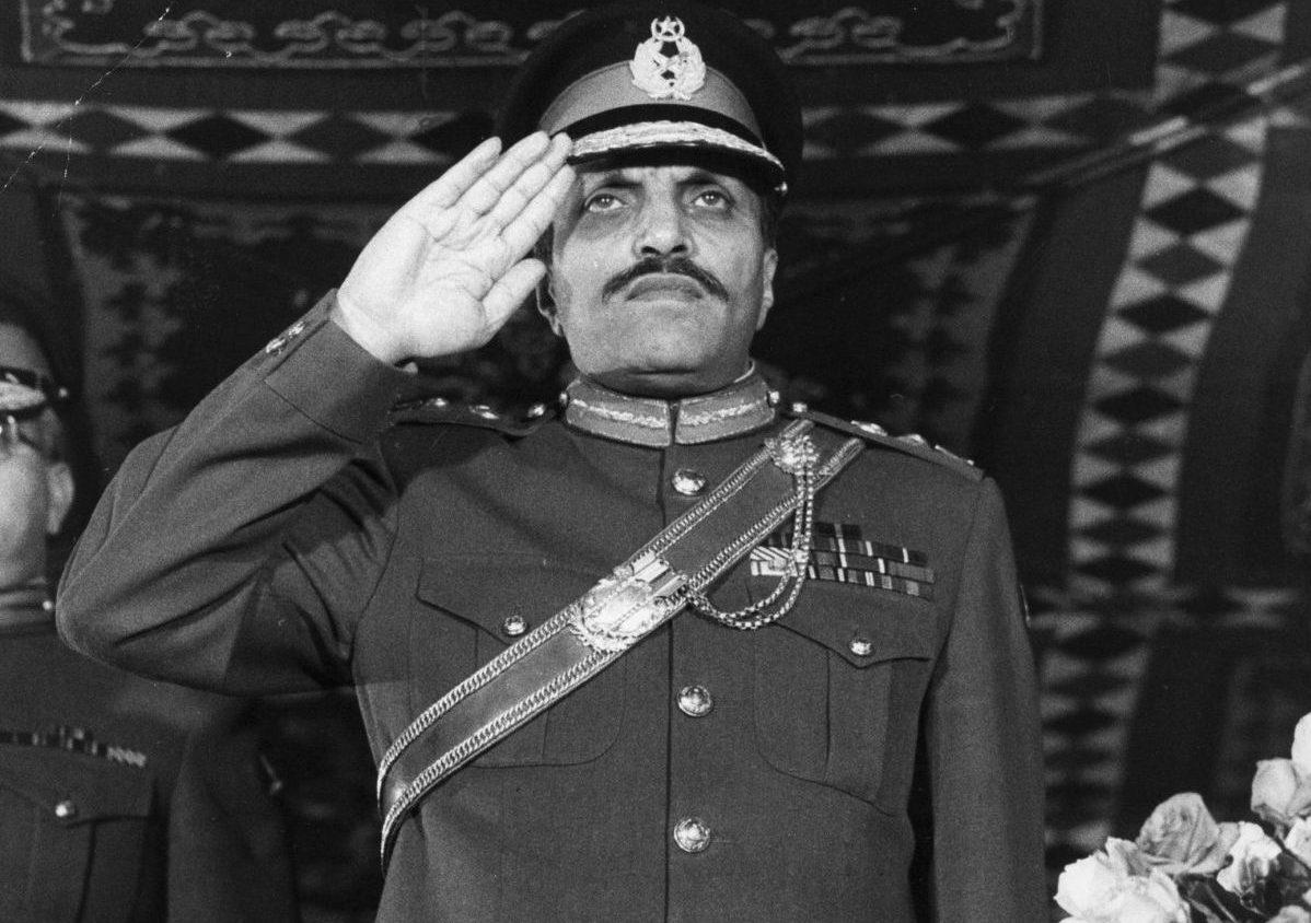 El general Muhammad Zia-Ul-Haq, presidente de Pakistán entre 1978 y 1988.