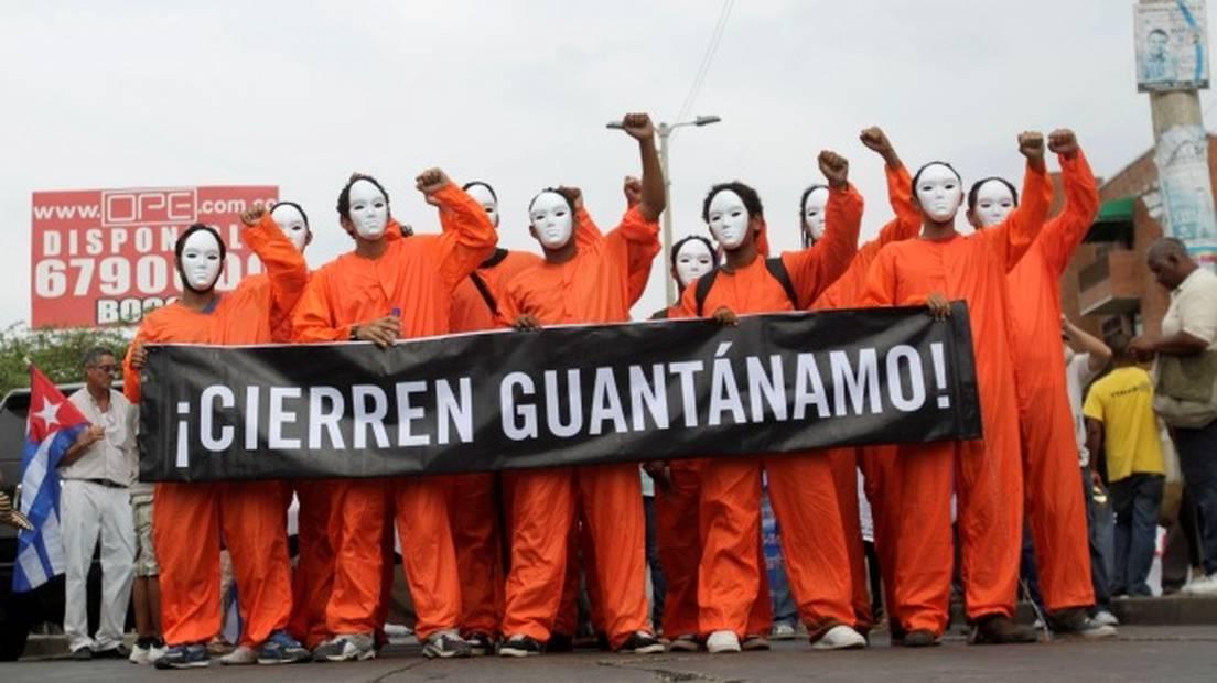 Protesta contra la prisión estadounidense de Guantánamo (Cuba). REUTERS