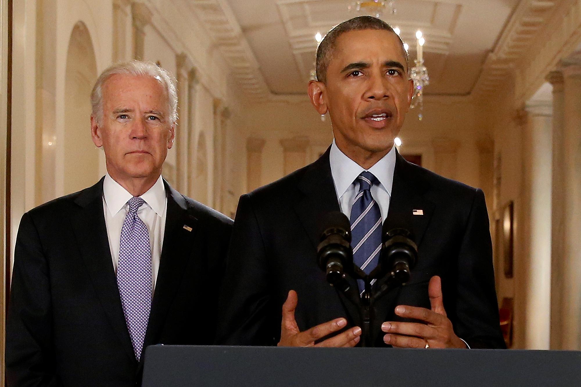 Joe Biden y Barack Obama. - Reuters