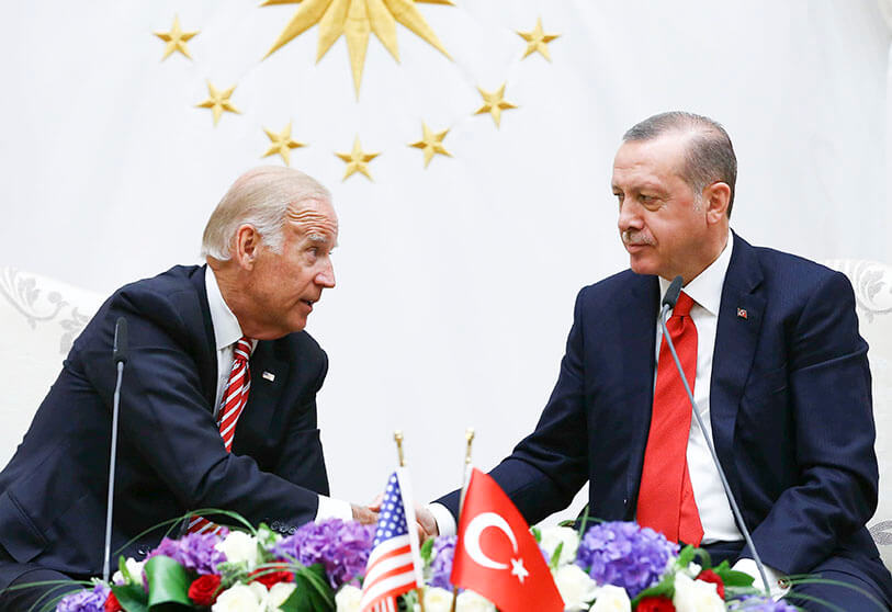 Joe Biden y Recep Tayyip Erdogan, Ankara, 24 de agosto de 2016. - REUTERS