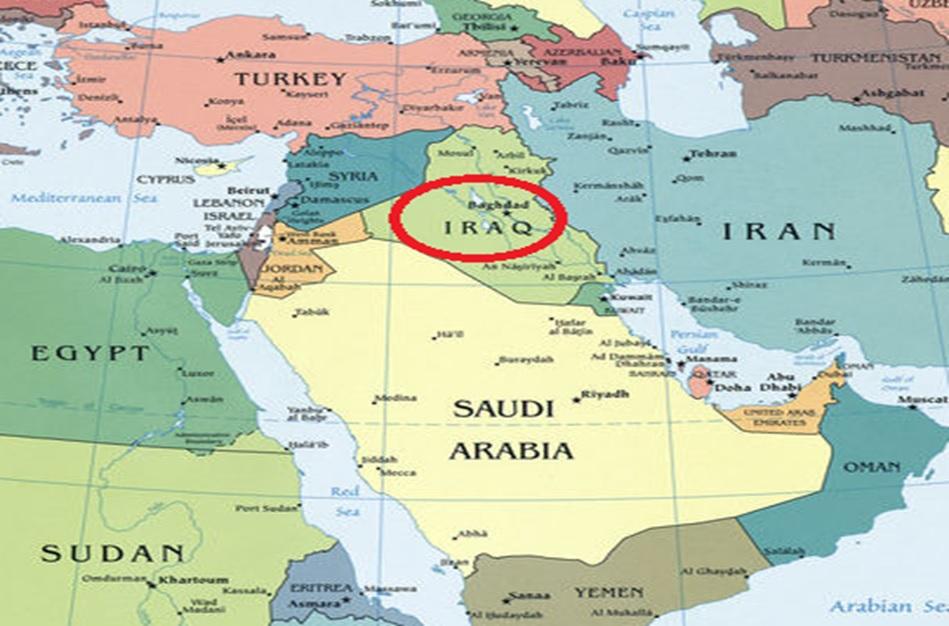 Irak y sus países vecinos.