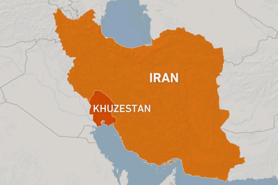 Ubicación de la provincia iraní de Juzestán.