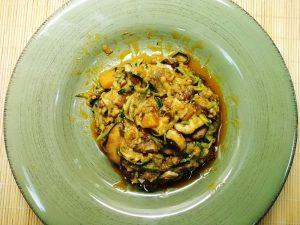 receta-espagueti-calabacin-setas