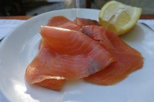 Ingrediente de crepes salmón ahumado