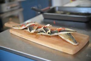 Receta lubina al horno con verduras