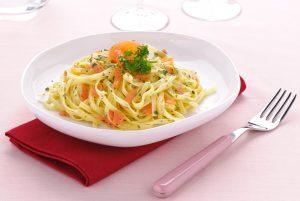 Receta de pasta fresca con salmón ahumado