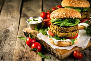 Hamburguesa vegetal o vegetariana