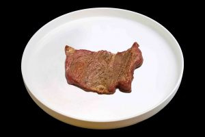 Bistec de carne vegetal. Novameat.