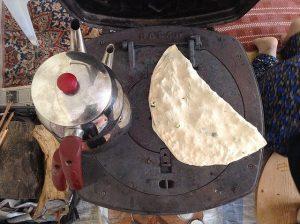 Gözleme en elaboración turca tradicional.