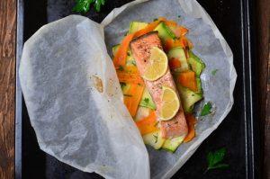 Receta de salmón a la papillote con verduras