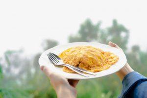 Receta tortilla de arroz