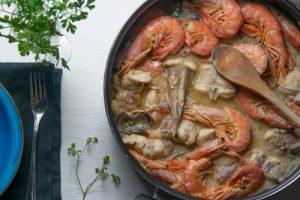 Zarzuela de pescado y marisco.