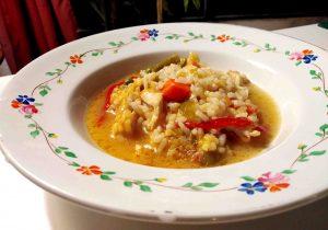 Receta de arroz caldoso de pollo y verduras
