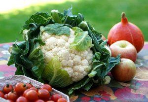 Hortalizas para dieta saludable.