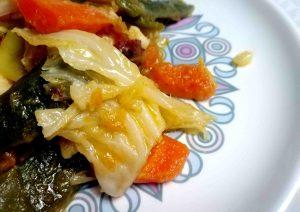 Receta de panaché de verduras.