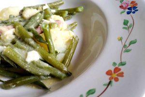 Judías verdes con huevo duro.