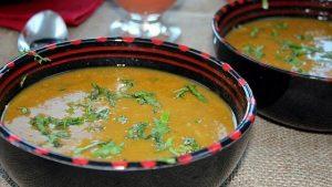 Sopa harira marroquí.