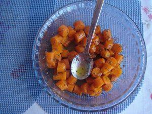 Zanahorias aliñás o aliñadas.