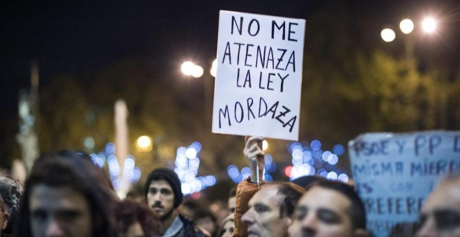 Manifestación contra la ley mordaza. EFE/Luca Piergiovanni