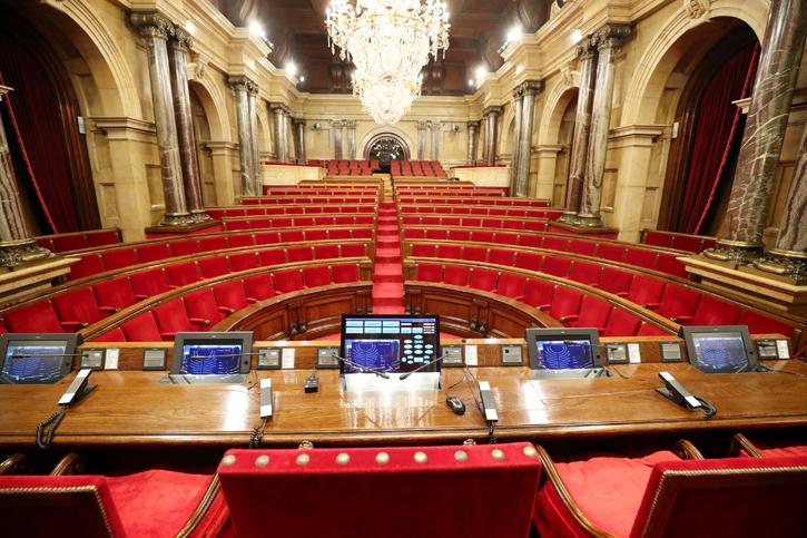 Hemiciclo del Parlament de Catalunya. REUTERS