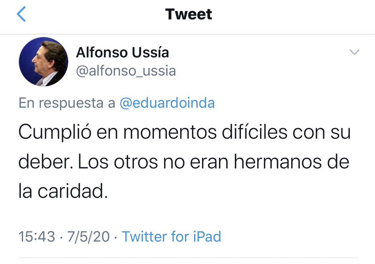 Alfonso Usía, en Twitter.